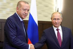 Putin s Erdoganom sa stretli v Soči.