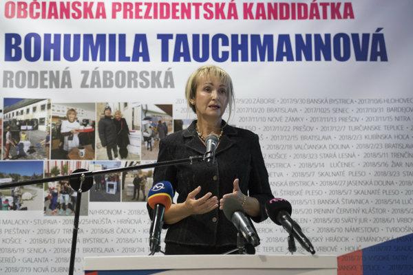 Občianska kandidátka na prezidentku Bohumila Tauchmannová-Záborská vyzbierala potrebný počet podpisov.