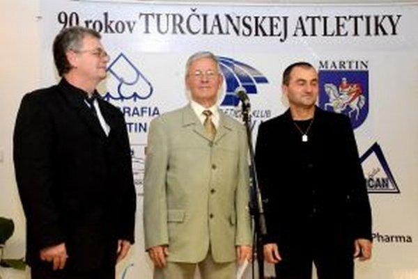 Autori knihy - zľava Marián Kalabus, Peter Rovnianek a  Pavel Slouka.