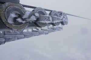 Takáto zimná atmosféra vládla ráno na Chopku.
