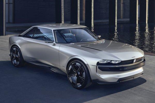 Štúdia e-Legend Concept, ktorú Peugeot predstaví na autosalóne v Ženeve, sa vyznačuje bohatým zasklením, pripomínajúcim legendárne kupé 504.