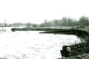 Povodeň pri výstavbe v roku 1988.