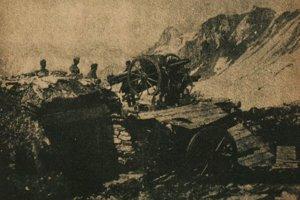 Rakúsko-uhorskí delostrelci na talianskom fronte.
