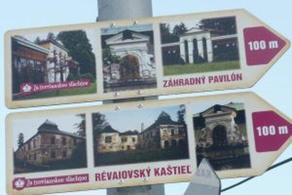 Nové prírastky. Smerové tabule s fotografiami majú skvalitniť cykloturistiku i turistiku v regióne.