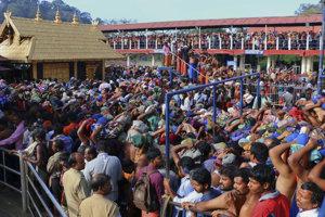 Svätyňa Sabarimála v indickom štáte Kérala.