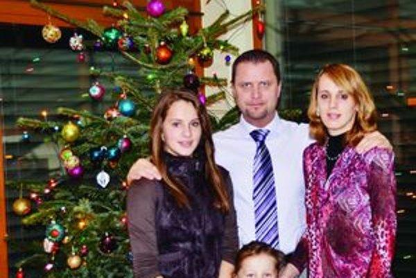 Martinský primátor Andrej Hrnčiar s rodinou.