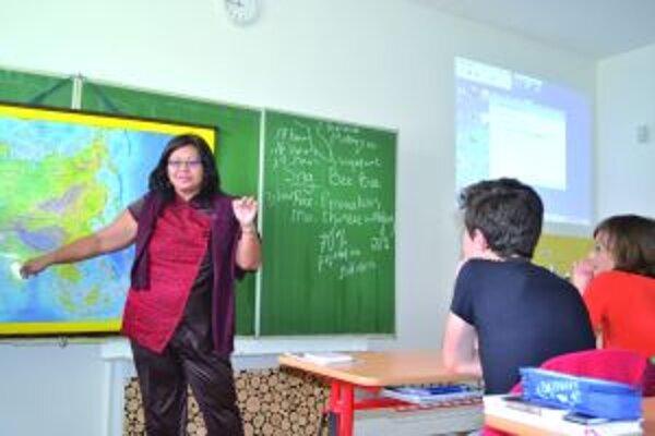 Učiteľka zo Singapuru v martinskej škole.