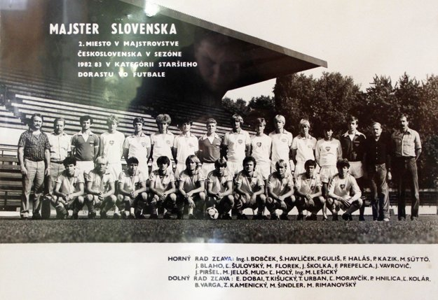 Úspešní dorastenci FC Nitra z roku 1983.