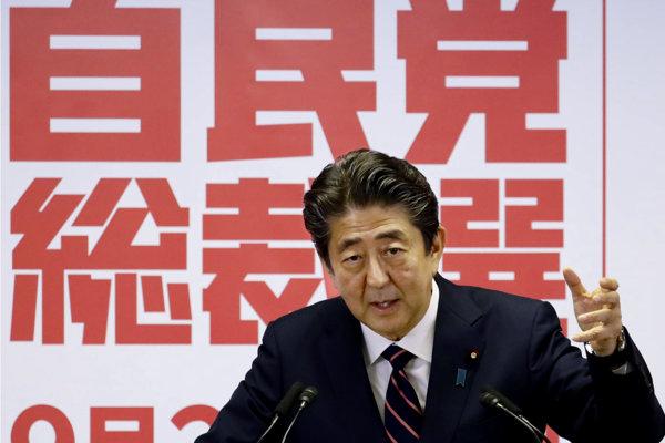 Japonský premiér Šinzó Abe.