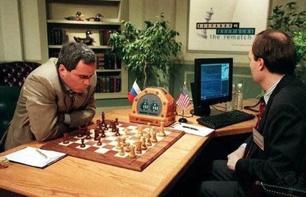 Gary Kasparov počas jeho súboja s Deep Blue