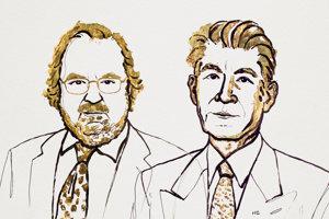 Laureáti Nobelovej ceny za medicínu. Zľava: James P. Allison a Tasuku Honjo.