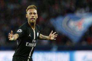 Neymar sa raduje po jednom zo svojich gólov.