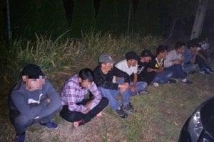 Zadržaní migranti.