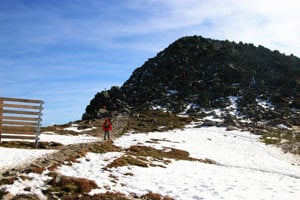 Chopok je tretím najvyšším vrchom Nízkych Tatier