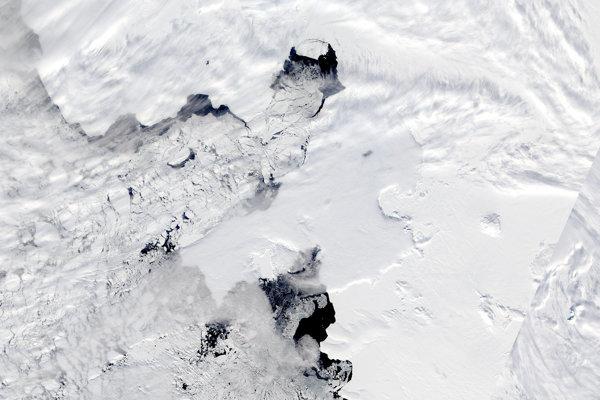 Oblasť okolo ľadovca Pine Island v Antarktíde.
