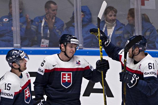 Marko Daňo (v strede) v reprezentačnom drese.