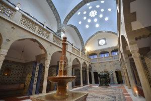 Interiér tureckého kúpeľa Hammam v Kúpeľoch Trenčianske Teplice.