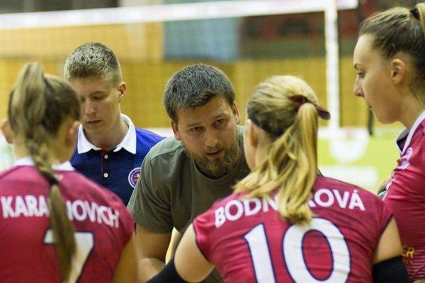 VK Eperia Prešov a tréner Bočkay.