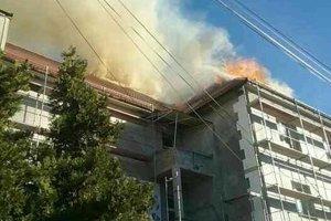Požiar budovy polície v rekonštrukcii