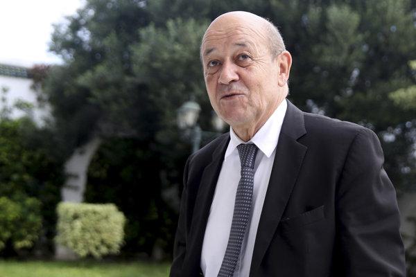 Francúzsky minister zahraničných vecí Jean-Yves Le Drian.
