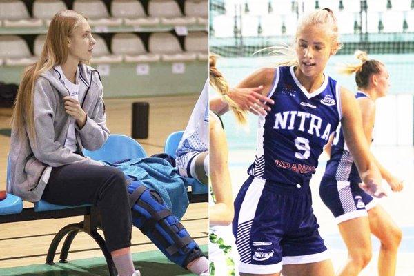 Sympatická Nitrianka pred rokom pauzovala pre zranená ľavé koleno, teraz si dochrámala pravé...