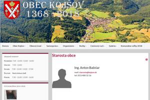 Obec Kojšov neodpovedala na infožiadosť. Podľa starostu šliapla Transparency vedľa.
