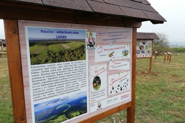 Nová oddychová zóna je nad dedinou, neďaleko meteorologickej stanice pri cyklotrase.