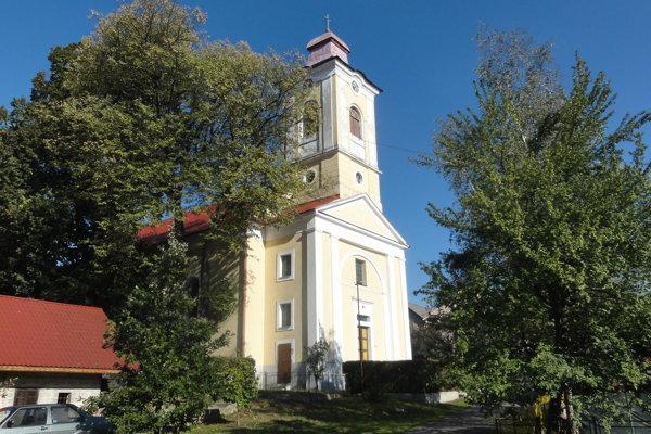 Evanjelický kostol v Cerove z roku 1858.