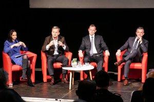 Diskusie v Tabačke sa zúčastnili minulý týždeň Bašistová, Havrilla, Lesňák a Špak.