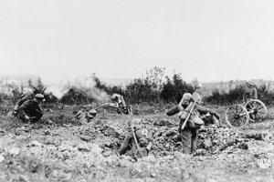 Nemeckí vojaci v akcii.