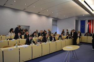 Prvé pracovné rokovanie zastupiteľstva mesta Prešov v novom volebnom období.