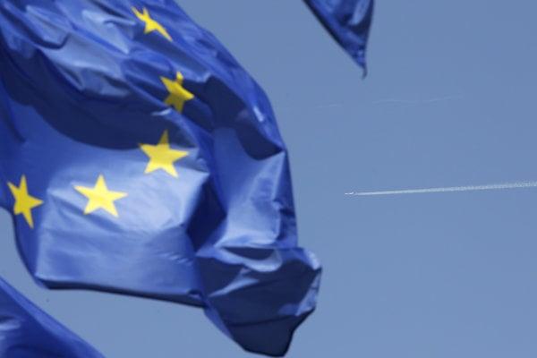 Vejúca  zástava Európske únie.