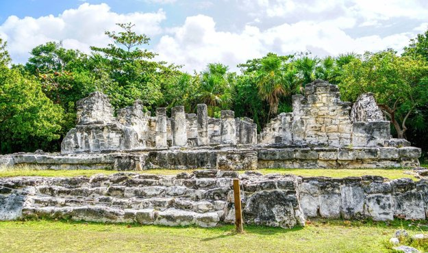 Mayské ruiny El Ray, Cancún.
