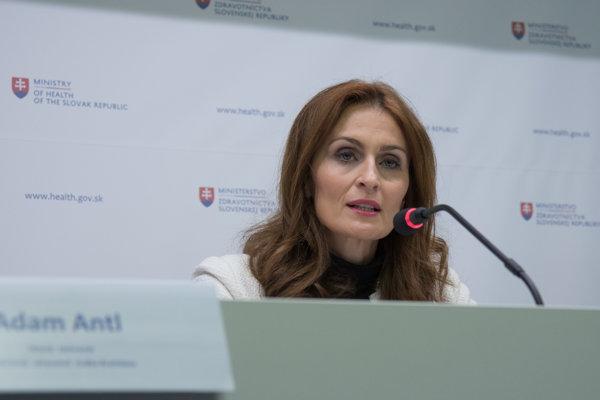 Ministerka zdravotníctva Andrea Kalavská (nom. Smeru).