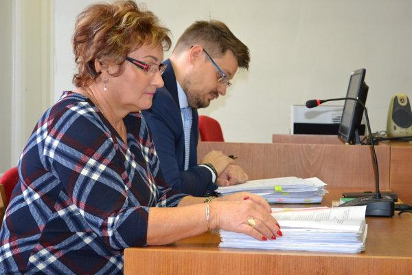 Anna Lopatová s právnym zástupcom Martinom Miklušom na súde.