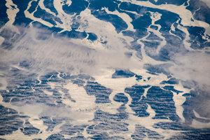 """""""Pole"""" antarktických ľadových krýh."""