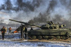 Cvičenie ukrajinskej armády.