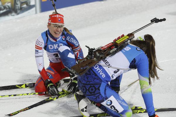Paulína Fialková v priebehu pretekov Svetového pohára v ruskom Ťumene.