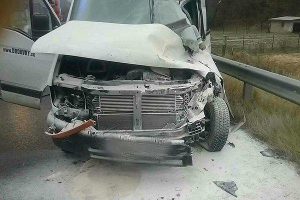Dodávka po nehode.