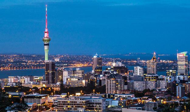 Pohľad na novozélandský Auckland (3. miesto v rebríčku) z Mt. Eden.