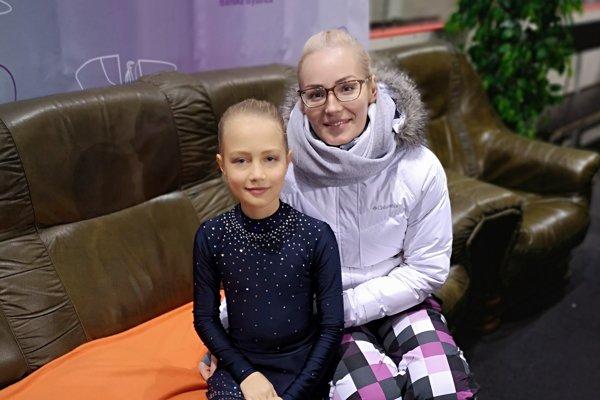 Soňa Nemcová s trénerkou Zrubecovou.
