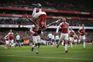 Pierre-Emerick Aubameyang sa raduje zo svojho gólu.