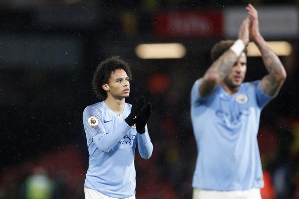 Hráči Manchestru City oslavujú triumf - ilustračná fotografia.