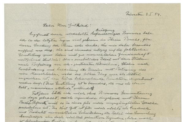 Einsteinov list o Bohu.