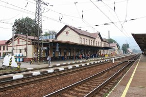 Vrútocká železničná stanica.
