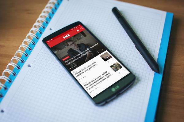 Nový dizajn Android aplikácie SME.sk.