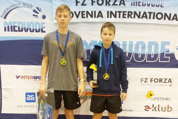 Zlatí medailisti - Simeon Suchý a Andrej Suchý.