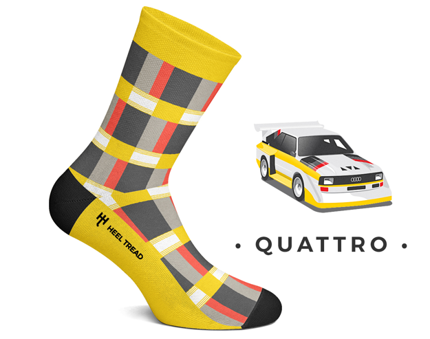 Ponožky Audi Quattro.