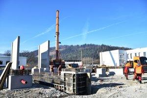 Stavba novej transformovne.