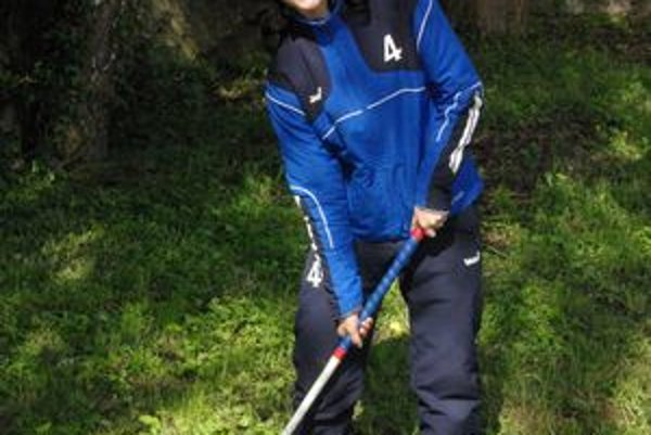 Ivana je kapitánkou hokejbalového tímu.